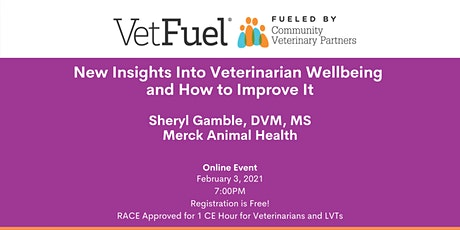 New Insights Into Veterinarian Wellbeing and How to Improve It tickets