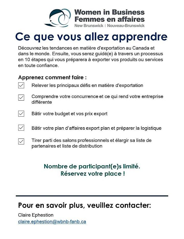 Atelier Stratégie d'exportation- Export Strategy Workshop image