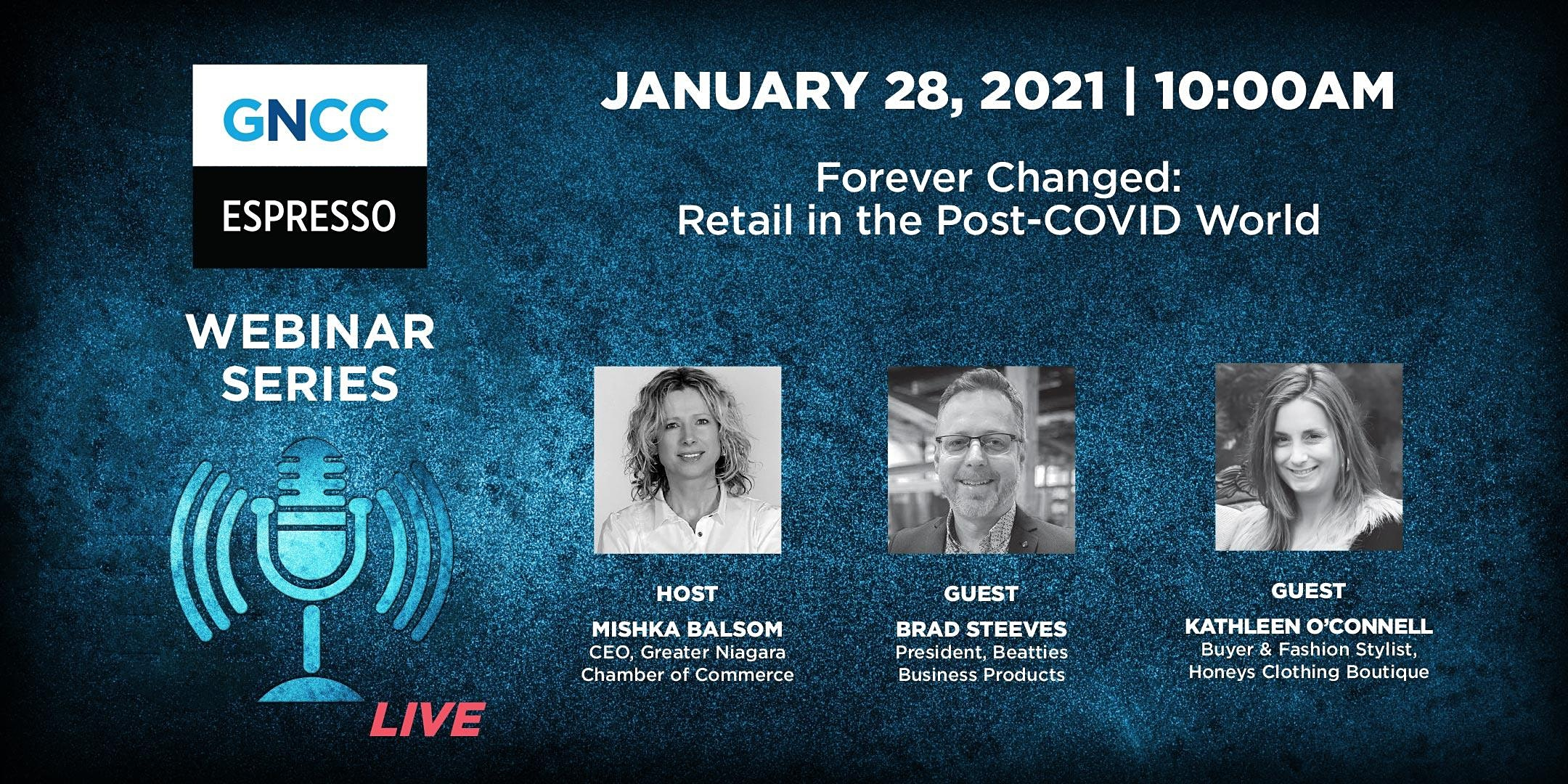 Espresso Live January 28: Forever Changed — Retail in the Post-COVID World