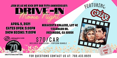 70th Anniversary - Drive-In Movie Night tickets
