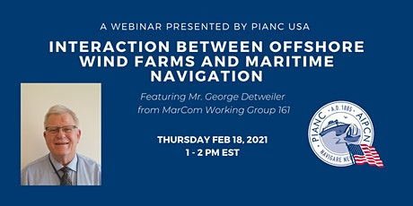 PIANC USA Webinar -Interaction Between Offshore Wind Farms and Maritime Nav tickets