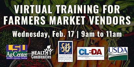 Virtual Training for Farmers Market Vendors tickets