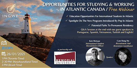 Opportunities For Studying & Working In Atlantic Canada tickets
