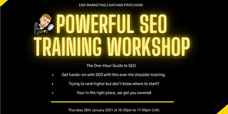 #1 SEO Training Webinar Training tickets