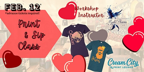 Print & Sip Event: Valentine's Themes by Mystic Phoenix Art (Limited to 12) tickets