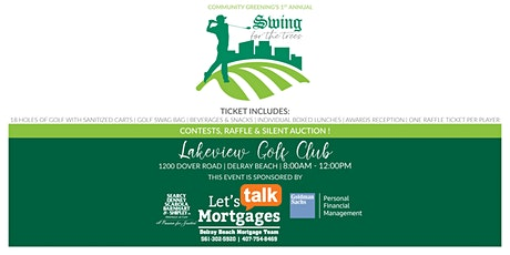 Event Set up for Golf Fundraiser | Swing for the Trees | Volunteers tickets