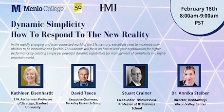 Dynamic Simplicity: How To Respond To The New Reality tickets