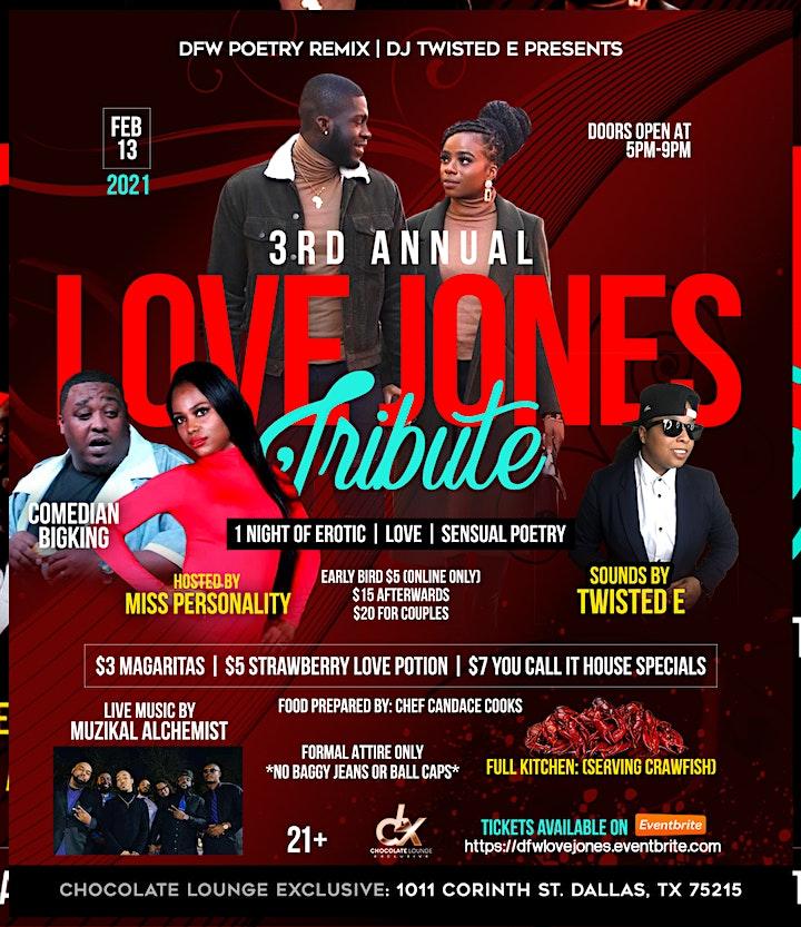 3rd Annual DFW Poetry Remix Love Jones Tribute image