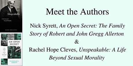 A Book Talk with Nick Syrett and Rachel Hope Cleves tickets