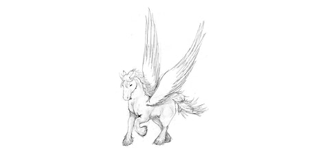 60min Animal Pencil Sketching Art Lesson - Pegasus @4PM (Ages 7+) tickets