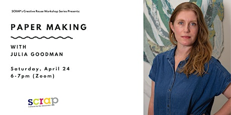 Paper Making with Julia Goodman tickets