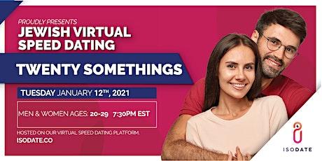 Isodate's Twenty Somethings  Jewish Virtual Speed Dating tickets