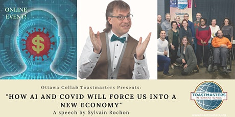 """Toastmasters Event: """"How AI and Covid will Force Us Into a New Economy"""" tickets"""