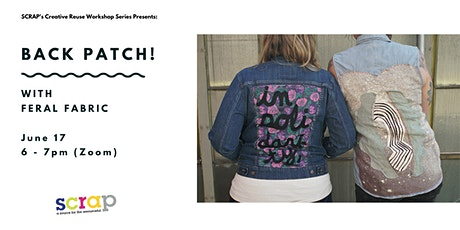 Back Patch with Feral Fabric tickets