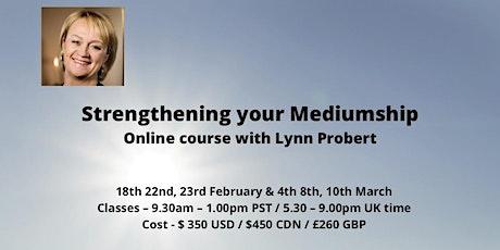 Lynn Probert online Mediumship Feb / March tickets
