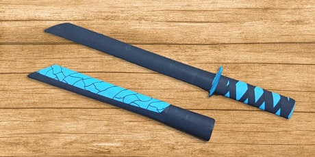 60min Anime Samurai  Warrior Sword Papercrafts Art Lesson @5PM  (Ages  5+) tickets
