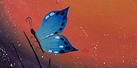 """""""Butterfly Zen"""" - Live Online Paint & Sip Event tickets"""
