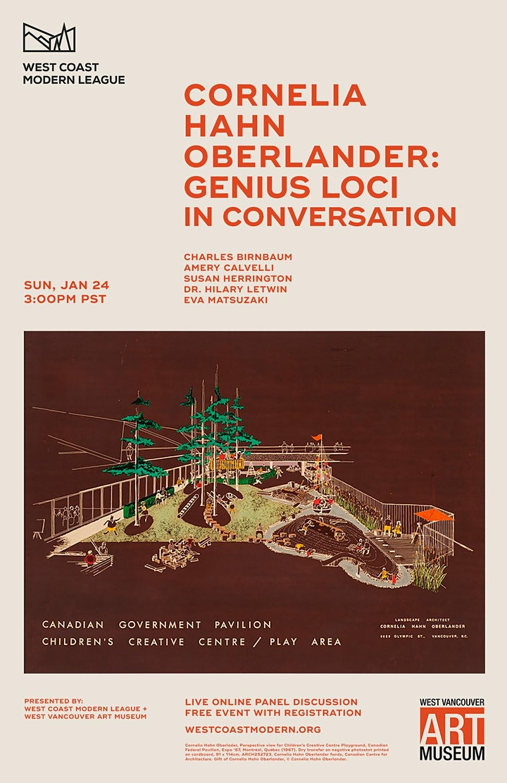 CORNELIA HAHN OBERLANDER: GENIUS LOCI | IN CONVERSATION image