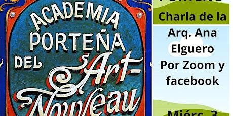 FILETEADO PORTEÑO en la época del Art Nouveau, charla de Arq. Ana Elguero ingressos