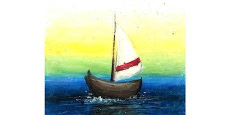 60min Pastel Techniques Art Lesson- Boat  @5PM (Ages 7+) tickets