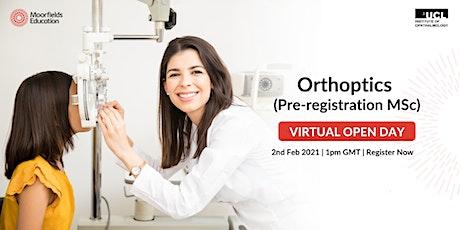 Virtual Open Day - Orthoptics (Pre-registration) MSc tickets