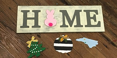 Horizontal Home Sign with Attachables tickets