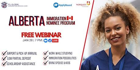 FREE WEBINAR: Alberta Immigration Nominee Program for International Student tickets