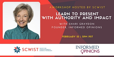 Informed Opinions Workshop: Learn to Present With Authority and Impact tickets