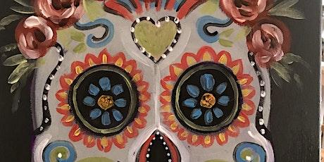 Sugar Skull: Paint and Sip Art Class tickets