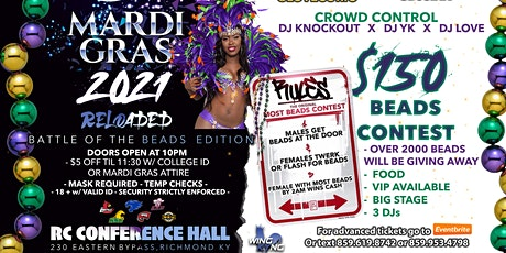 MARDI GRAS 2021 RELOADED: BATTLE OF THE BEADS EDITION ! ! ! tickets