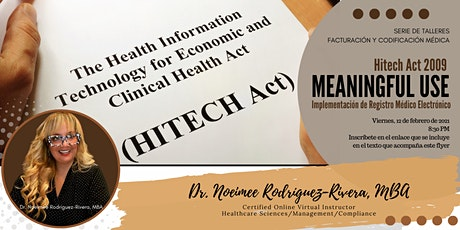 Webinar: Meaningful Use: HITECH ACT 2009 - Programa Incentivos de EHR/EMR bilhetes
