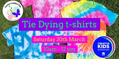 Tie Dying  your own t-shirt - Kids Creative Workshop March 20th, 2021 tickets