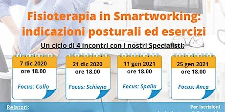 Salute e Benessere in Smartworking IV° meeting - Focus : l'anca biglietti
