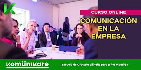 """Curso online """"Comunicación en la empresa"""" entradas"""