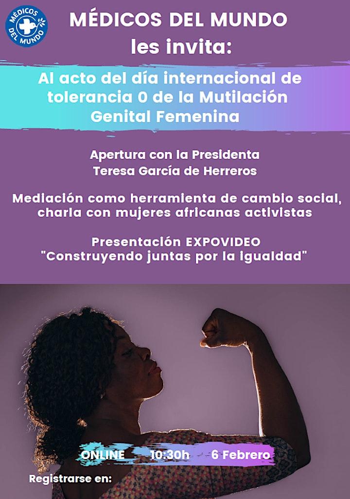 Imagen de Día internacional de Tolerancia Cero con la MGF