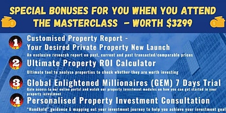 Wow!! FREE Bonuses WORTH $3299  When You Attend This FREE Event tickets