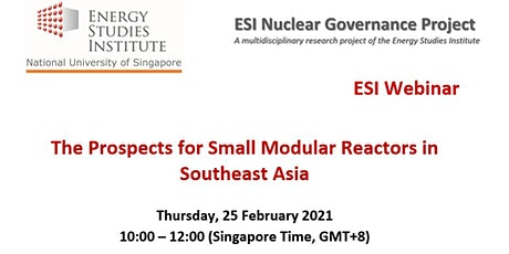 The Prospects for Small Modular Reactors in Southeast Asia tickets