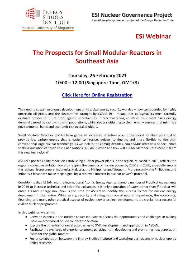 The Prospects for Small Modular Reactors in Southeast Asia image