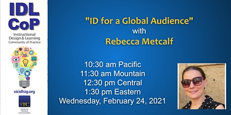 """""""ID for a Global Audience"""" with Rebecca Metcalf tickets"""