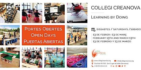 Col·legi CreaNova - Portes Obertes - Open Day - Puertas Abiertas tickets