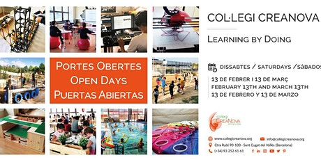 Col·legi CreaNova - Portes Obertes - Open Day - Puertas Abiertas entradas