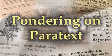 Pondering on Paratext - Seminar 1 tickets
