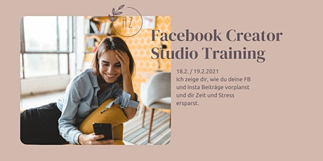 Facebook Creator Studio Training Tickets