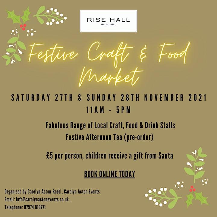 Christmas Craft & Food Market, Rise Hall image