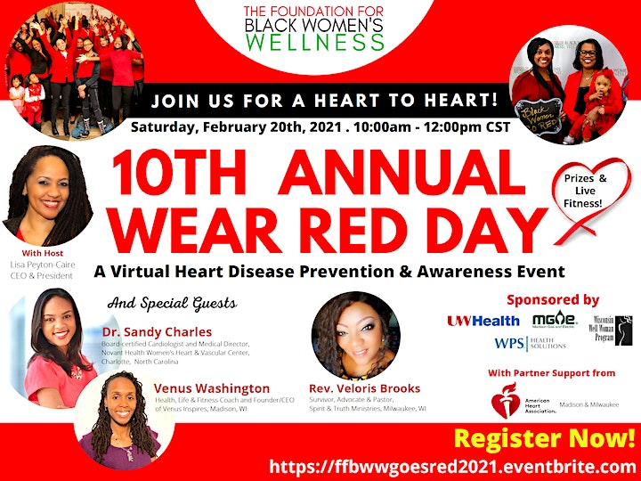 10th Annual National Wear Red Day Virtual Event image