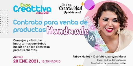 Contrato para venta de productos Handmade tickets