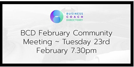 BCD February Community Meeting tickets