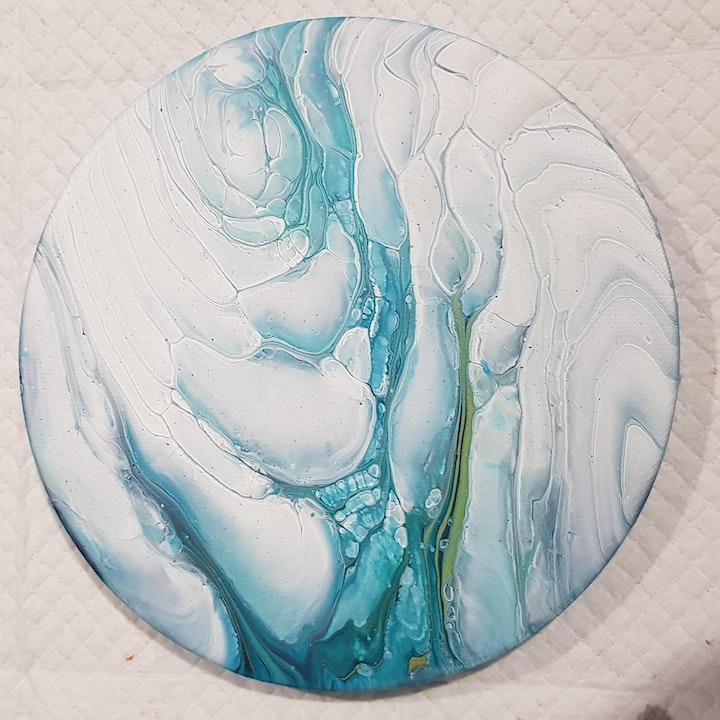 Fluid Art Experience - CLOUD POURS (Paint and Sip) image