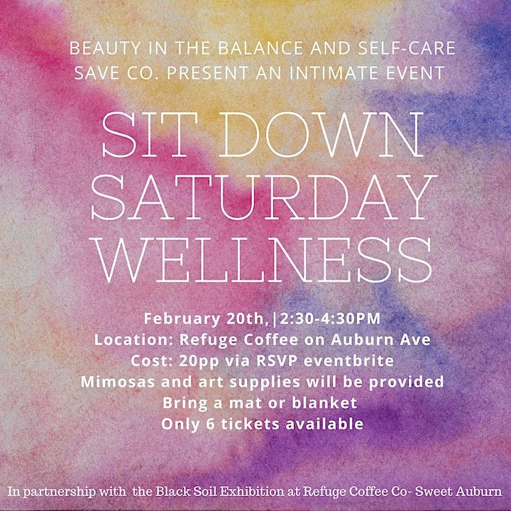 Sit Down Saturday Wellness Event image