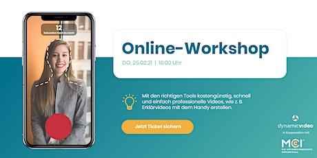 Smartphone-Videos schnell und einfach erstellen für Unternehmen (MCI) Tickets